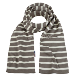 Bretonse sjaal 140x15 cm   Taupe - Ecru