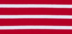 Bretonse streep hoofdband Donkerrood - Wit