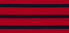 Bretonse streep hoofdband Donkerrood - Marineblauw