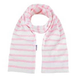 Bretonse sjaal 140x15 cm   Wit - Roze
