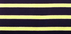 Bretonse streep hoofdband Marineblauw - Geel