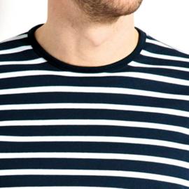 Bretons heren T-shirt ronde hals met bies