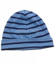 Bretonse streep muts Lichtblauw - Marineblauw