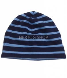 Bretonse streep muts Marineblauw - Lichtblauw