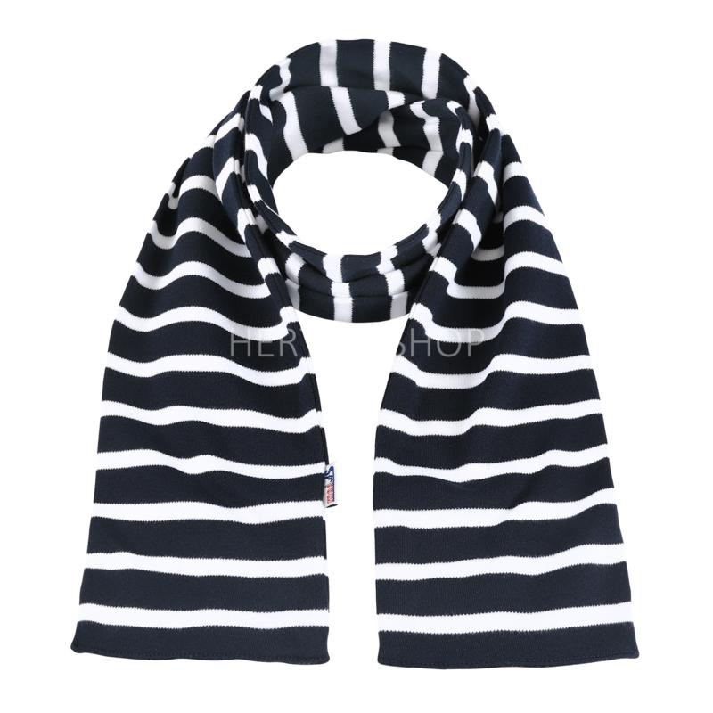 Bretonse kindersjaal Marineblauw - Wit