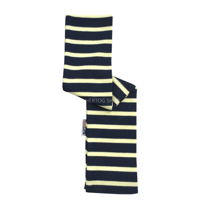 Bretonse babysjaal Marineblauw - Geel