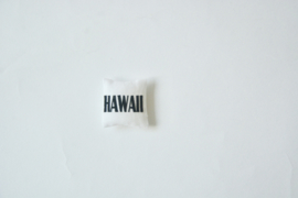 "Kussentje ""Hawaii"" white"