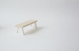 Design bankje wit