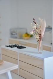 Vaas met droogbloemen  🌷