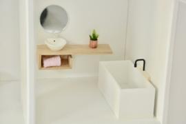 Bathroom closet wood