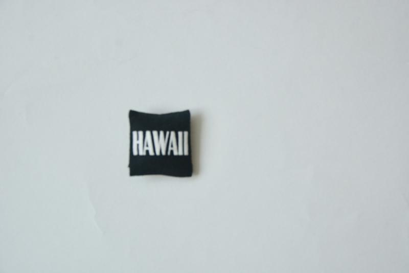 """Pillow """"Hawaii"""" black"""