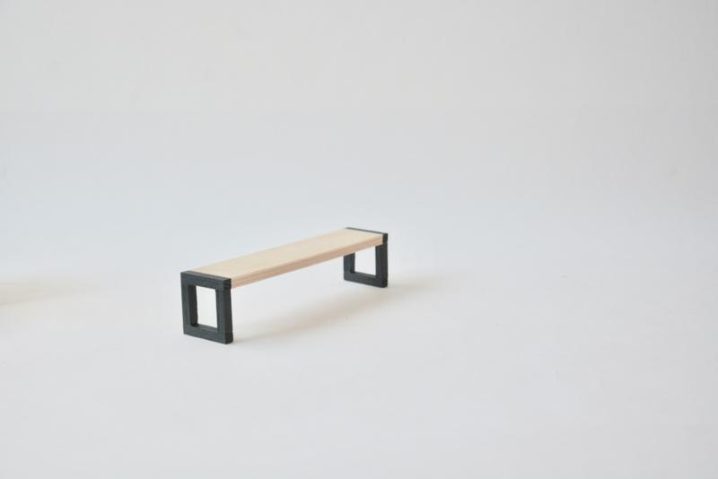 Cube bankje zwart