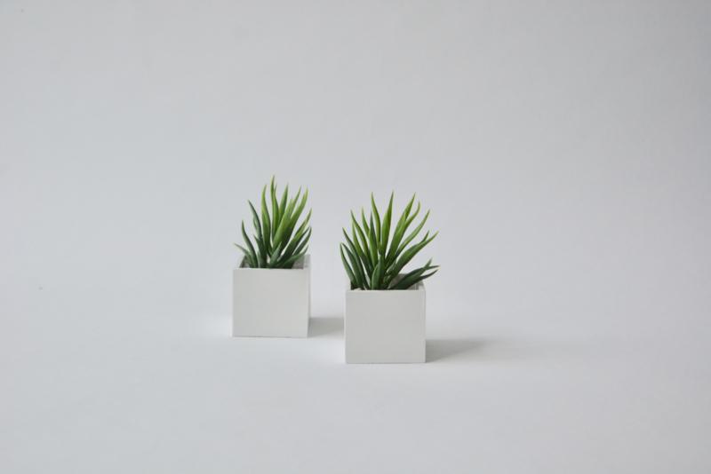 "Plantenbak ""white"" vierkant"