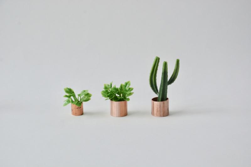 Plant in koperen pot S
