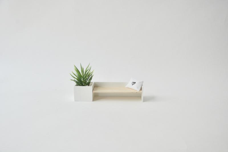 Bankje inclusief plantenbak