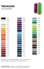 Amann Mettler Trojalock garen ~ kleurkaart
