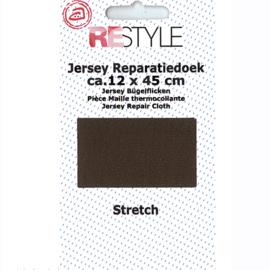 Jersey reparatiedoek ~ kleur 884 (bruin)