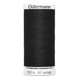 Gutermann 500m ~ kleur 000 (zwart)