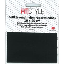 Zelfklevend nylon reparatiedoek ~ zwart