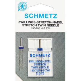 Schmetz stretch tweeling 2,5/75