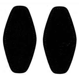 Elleboogstukken ~ kleur 000 (zwart)