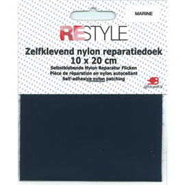 Zelfklevend reparatiedoek nylon ~ marine