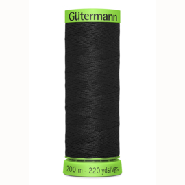 Extra fijn ~ kleur 000 (zwart)(Gütermann)