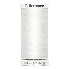 Gutermann 500m ~ kleur 800 (wit)
