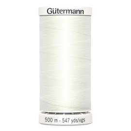 Gutermann 500m ~ kleur 111 (gebroken wit)