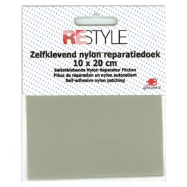 Zelfklevend nylon reparatiedoek ~ grijsgroen (004)