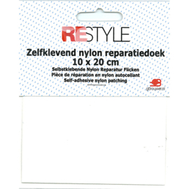 Zelfklevend reparatiedoek nylon ~ wit