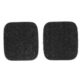 Kniestukken opstrijkbaar ~ kleur 000 (zwart)