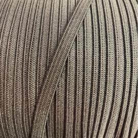 Elastiek zacht 6mm plat ~ kleur zwart