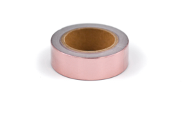 Washi tape blinkend goud rosé