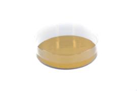 PVC rond doosje met gouden bodem