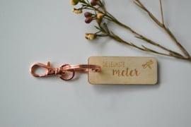Sleutelhanger goud rosé - meter