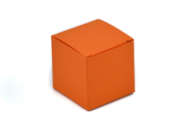 Kubus doosje oranje