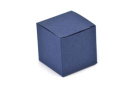 Kubus doosje nachtblauw