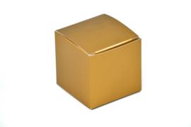 Kubus doosje goud