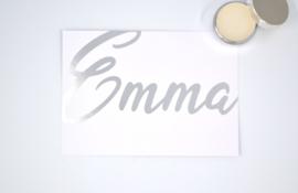 Geboortekaartje Emma - foliedruk