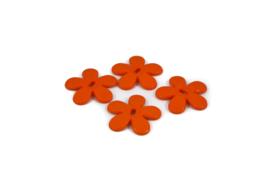 Plastic bloem oranje