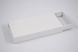 Hard kartonnen schuifdoosje helder wit