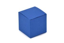 Kubus doosje koningsblauw
