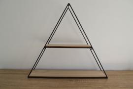 Presentatie driehoek zwart staal