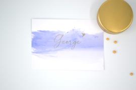 Geboortekaartje George - foliedruk