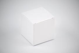 Kubus doosje glanzend wit