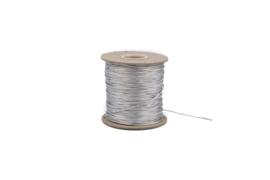 Koord glanzend zilver - 1mm
