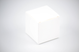 Kubus doosje gebroken wit