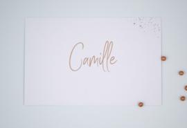 Geboortekaartje Camille - foliedruk