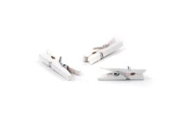Mini wasknijper helder wit